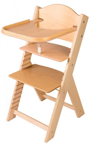 Dětská dřevěná jídelní židlička Sedees lakovaná bez obrázku - chytrá židle Sedees