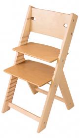 Chytrá rostoucí židle Sedees Line BEZ POVRCHOVÉ ÚPRAVY
