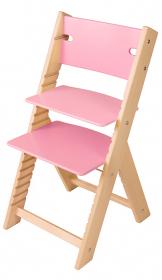 Chytrá rostoucí židle Sedees Line růžová