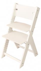 Chytrá rostoucí židle Sedees Line bílá, bílé bočnice