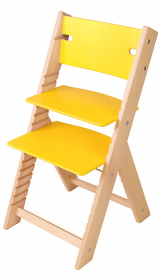 Chytrá rostoucí židle Sedees Line žlutá