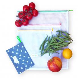 Sáčky Bagees na nákup ovoce a zeleniny - malá sada 3+1