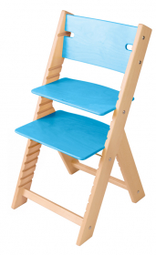 Chytrá rostoucí židle Sedees Line - olejovaná tyrkysová