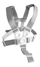 Kšíry (bezpečnostní popruhy) šedé - jídelní židlička Sedees