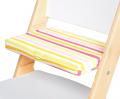 Pruhovaný podsedák na bílé rostoucí židli Sedees