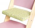 Podsedák zelené kytičky na růžové rostoucí židli Sedees