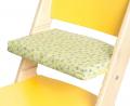 Podsedák zelené kytičky na žluté rostoucí židli Sedees