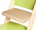 Béžový podsedák na zelené rostoucí židli Sedees