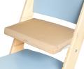 Béžový podsedák na modré rostoucí židli Sedees