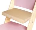 Béžový podsedák na růžové rostoucí židli Sedees