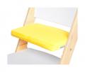 Žlutý podsedák na bílé rostoucí židli Sedees