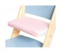 Růžový podsedák na modré rostoucí židli Sedees