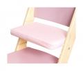 Růžový podsedák na růžové rostoucí židli Sedees