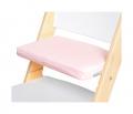 Růžový podsedák na bílé rostoucí židli Sedees