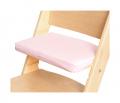 Růžový podsedák na přírodní rostoucí židli Sedees