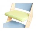 Zelený podsedák na modré rostoucí židli Sedees