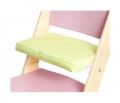 Zelený podsedák na růžové rostoucí židli Sedees