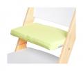 Zelený podsedák na bílé rostoucí židli Sedees