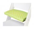 Podsedák zelené hvězdičky na bílé rostoucí židli Sedees