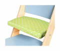 Podsedák zelené hvězdičky na modré rostoucí židli Sedees