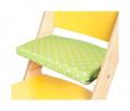 Podsedák zelené hvězdičky na žluté rostoucí židli Sedees