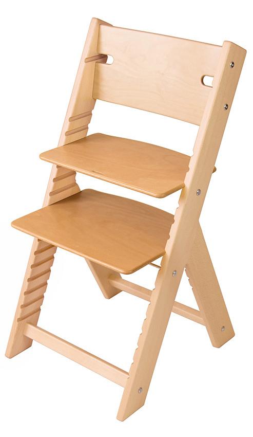 Chytrá rostoucí židle Sedees Line přírodní lakovaná