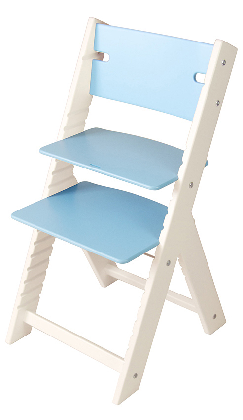 Chytrá rostoucí židle Sedees Line modrá, bílé bočnice