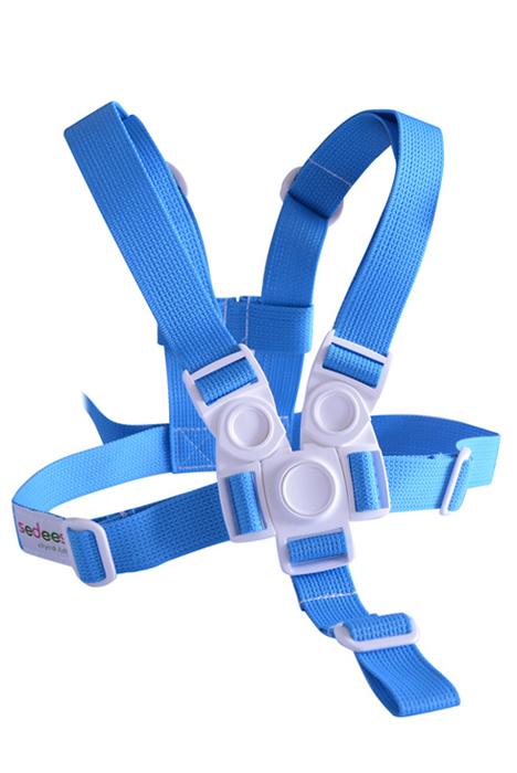 Kšíry (bezpečnostní popruhy) modré - jídelní židlička Sedees