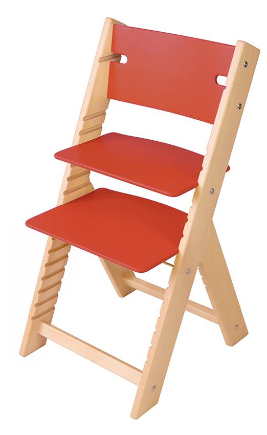 Chytrá rostoucí židle Sedees Line červená